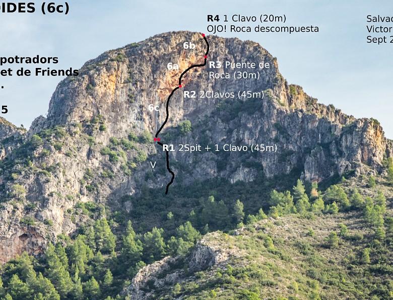 Vía de escalada al Mollo